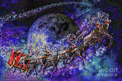 Painting - The Magical Night Version 2 by Dave Luebbert