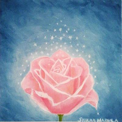 The Magical Pink Rose Original by Shikha Narula