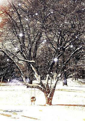 Snowy Day Mixed Media - The  Magical Tree by MaryLee Parker