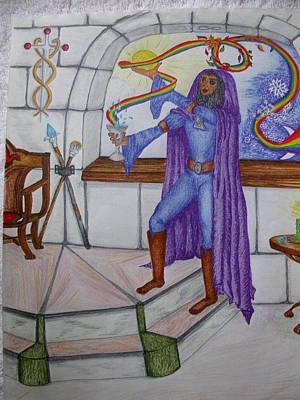 The Magician Art Print by Carol Frances Arthur