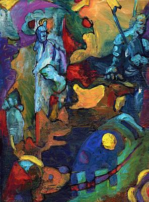Norse Goddess Painting - The Magician by David Matthews