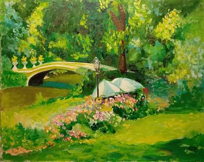 Painting - The Magnificent Bow Bridge by Nicolas Bouteneff