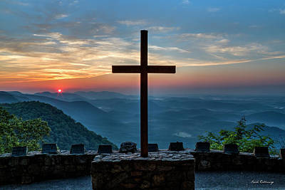 Photograph - The Magnificent Cross Pretty Place Chapel Greenville Sc Great Smoky Mountains Art by Reid Callaway