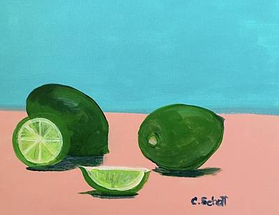 Painting - The  Magnificent Fruit From The Lime Tree II by Christina Schott