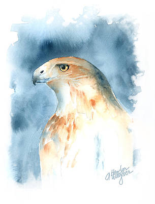 Red Tail Hawks Painting - The Magnificent Hawk by Arline Wagner