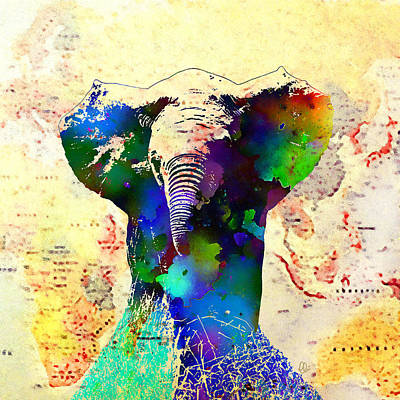 Ivory Art Mixed Media - The Magnificent One by Stacey Chiew