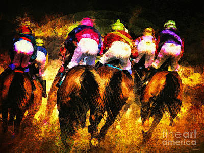 Digital Art - The Magnificent Riders by Tina LeCour
