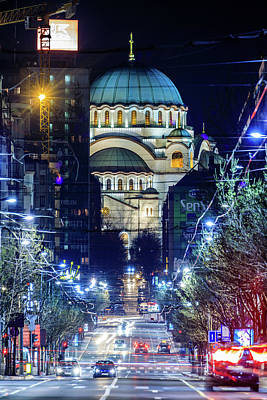 Photograph - The Magnificent St. Sava Temple In Belgrade by Dejan Kostic