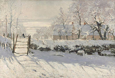 Magpies. Snow Painting - The Magpie 1868 - 1869 by Claude Monet