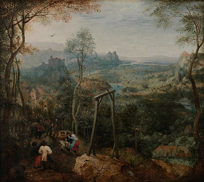 Magpies Painting - The Magpie On The Gallows by Pieter Bruegel the Elder