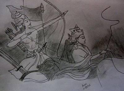Mahabharata Painting - The Mahabharat by Aurokanya Chattopadhya