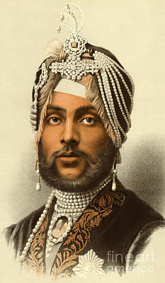 Sikh Drawing - The Maharajah Duleep Singh by English School