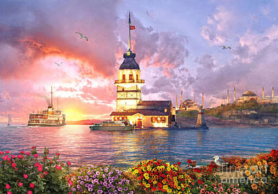 Mosque Photograph - The Maiden Tower by Dominic Davison