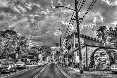 Photograph - The Main Drag Haleiwa Road North Shore Hawaii Collection Ar by Reid Callaway