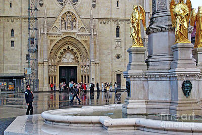 The Main Photograph - The Main Portal Of Zagreb Cathedral by Jasna Dragun