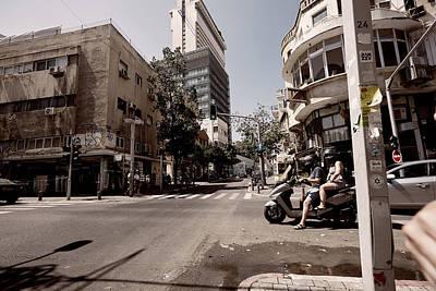Focus On Foreground Digital Art - the main street in Tel Aviv by Jan Pavlovski