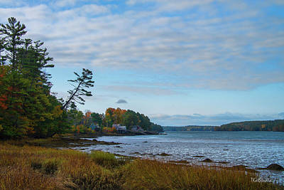 Photograph - The Maine Coast Near Edgecomb  by Tim Kathka