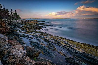 New England Village Photograph - The Maine Coast by Rick Berk