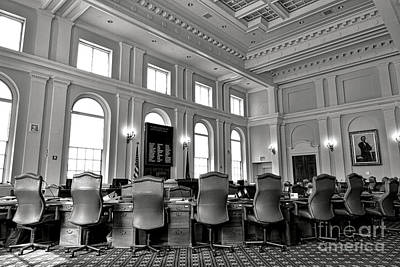The Maine Senate Chamber Art Print by Olivier Le Queinec