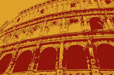 Painting - The Majestic Colosseum Of Rome by Andrea Mazzocchetti