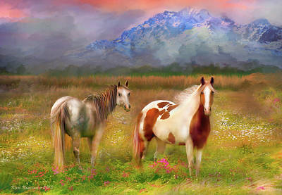 The Majestic Pasture Art Print by Kari Nanstad