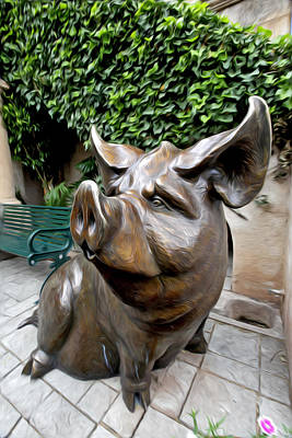 Photograph - The Majestic Pig by James Steele