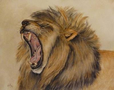 Painting - The Majestic Roar by Kelly Mills