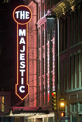 Photograph - The Majestic Theater Facade 92217 by Rospotte Photography