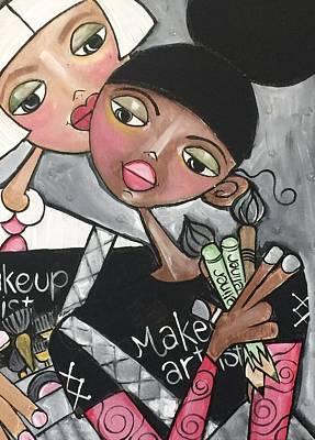 The Makeup Artist Art Print