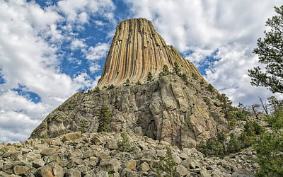 Photograph - The Making Of Devils Tower by John M Bailey