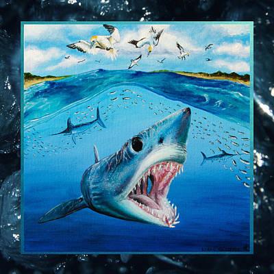 Swordfish Mixed Media - The Mako Run by Kyra Kalageorgi