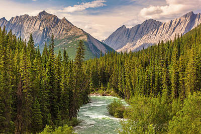 Photograph - The Maligne River by Mark Mille