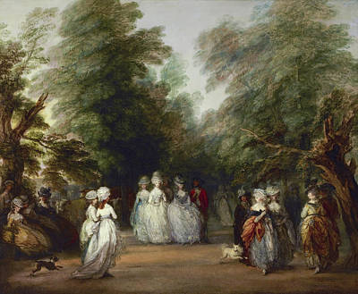 Park Scene Painting - The Mall In Saint James's Park by Thomas Gainsborough