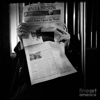 Photograph - The Man Behind The News by Miriam Danar
