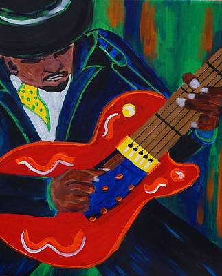 Acrylic Painting - The Man  by Deedee Williams