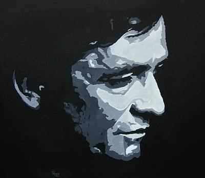 Painting - The Man In Black by Rock Rivard