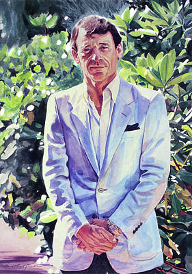 Painting - The Man In Blue by David Lloyd Glover