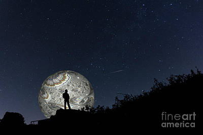 Photograph - The Man In The Fractal Moon by Steve Purnell