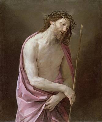 Thorns Wall Art - Painting - The Man Of Sorrows by Guido Reni
