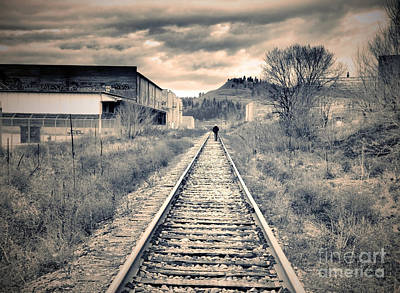 Kelowna Photograph - The Man On The Tracks by Tara Turner