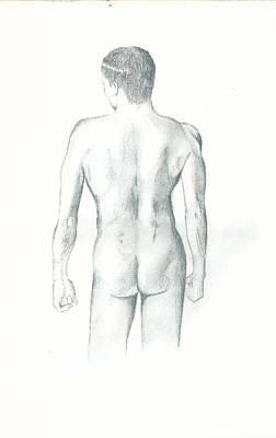 Hunk Drawing - The Man by Rakesh Kushwaha