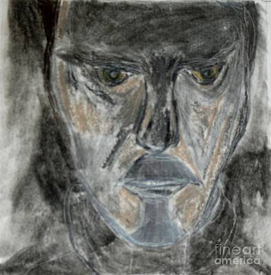 Drawing - The Man Who Followed Me by Victoria Hasenauer