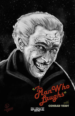 Digital Art - The Man Who Laughs by Joseph Burke
