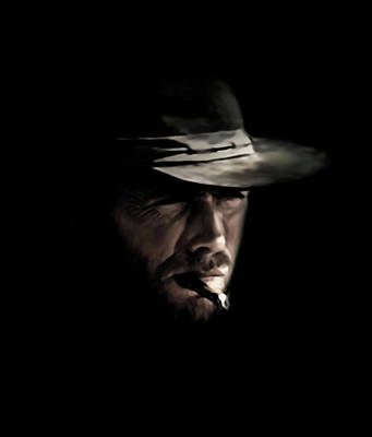 Cigars Digital Art - The Man With No Name by Laurence Adamson
