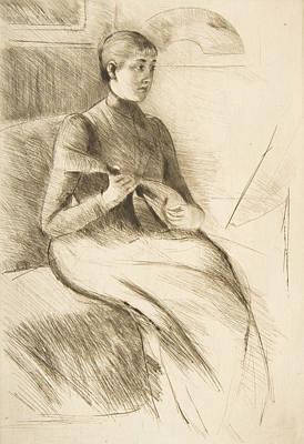 Relief - The Mandolin Player by Mary Cassatt