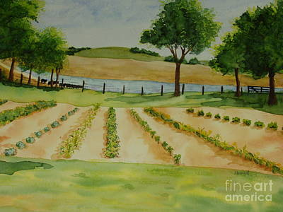 Art Print featuring the painting The Mangan Farm  by Vicki  Housel