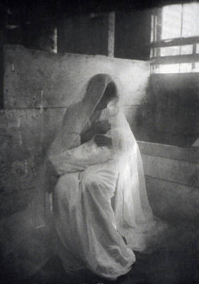 Marian Photograph - The Manger, By Gertrude Kasebier, Shows by Everett