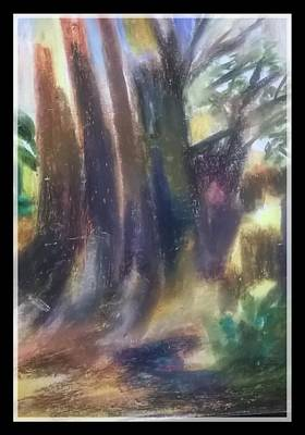 Abstract Painting - the manifestation of the Tree by Miss Ratul Banerjee
