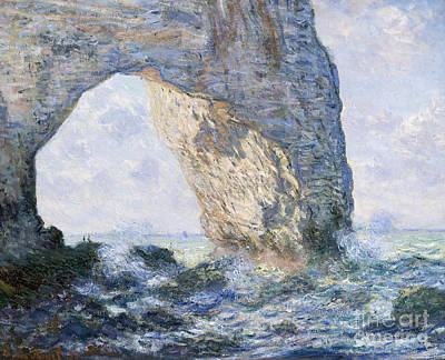 Rock Formation Painting - The Manneporte, Etretat, 1883 by Claude Monet
