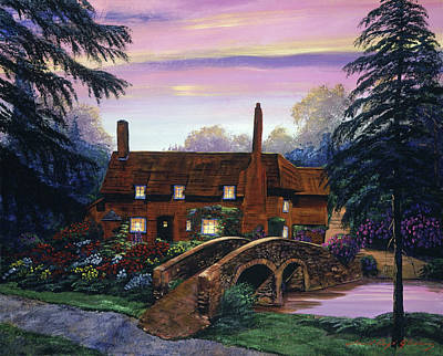 Painting - The Manor House Visit by David Lloyd Glover